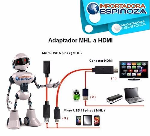 cable mhl micro usb a hdmi macho smarthphone hd adaptador