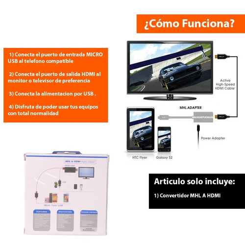 cable mhl micro usb a hdmi samsung s3 s4 s5 s6 note 2 3 hdtv