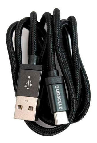cable micro usb 1,8m duracell negro