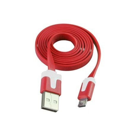 cable micro usb a usb plano carga 1 amper & trasfiere datos!