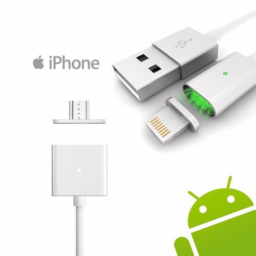 cable micro usb carga rápida magnético iphone + envio gratis