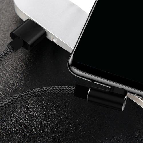 cable micro usb reforzado premium carga rapida 2.4a ficha l