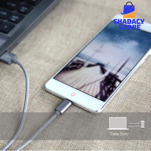 cable micro usb rock datos carga reforzado samsung sony