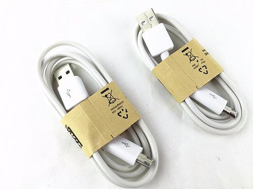 cable micro usb v8 1mt blanco compatible todas las marcas