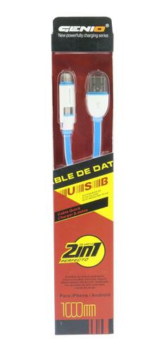 cable micro usb y lightning gênio lc-82 nuevos