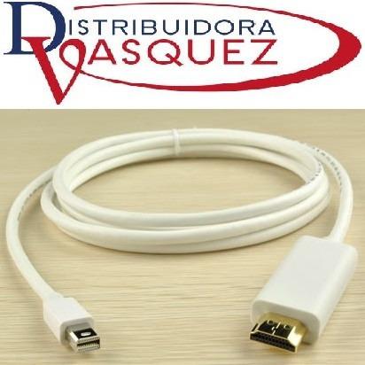 cable mini display port a hdmi macho 1,8 mts macbook mac
