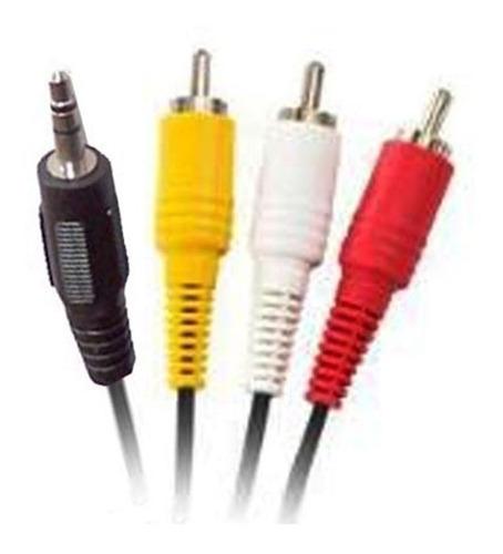 cable mini plug 3.5 mm a 3 rca -1.5metros netmak - aj hogar