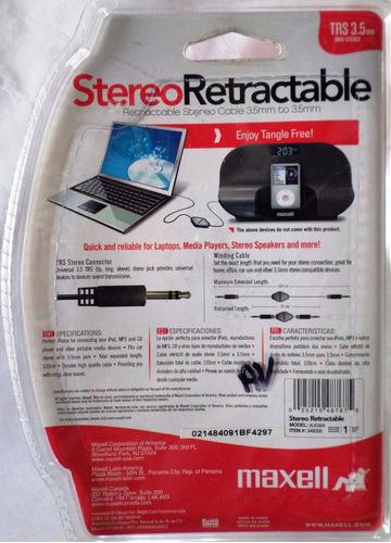 cable mini plug mini plug retractil maxell