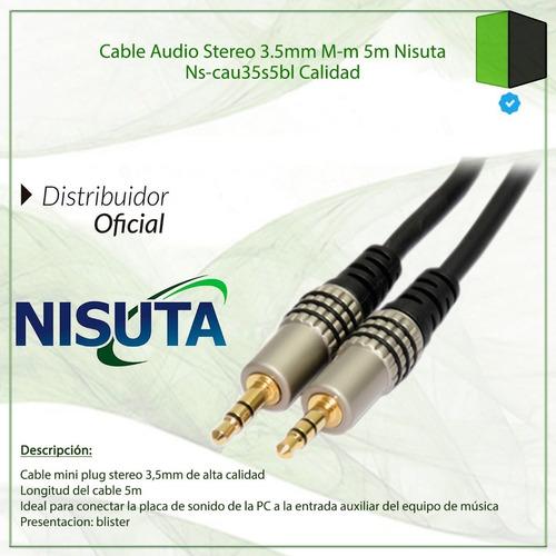 cable mini plug nisuta alta calidad 5mt mini plug 3.5 a 3.5