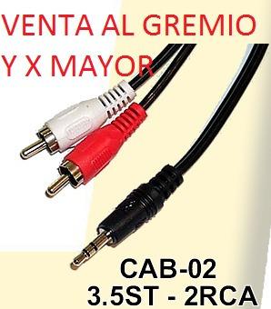 cable miniplug 3.5 a 2 rca 1.50 mts zona facultad medicina