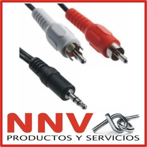 cable miniplug 3.5mm estereo a 2 rca - 1.5 metros - calidad