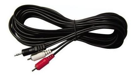 cable miniplug a 2 rca para conectar pc a mixers