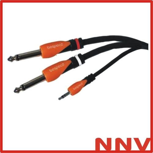 cable miniplug estereo a 2 plug mono 3mts slymsj300 bespeco