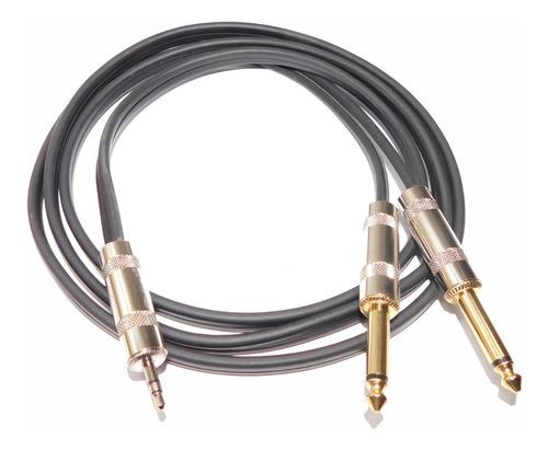 cable miniplug estereo a dos plug mono 15 mts hamc