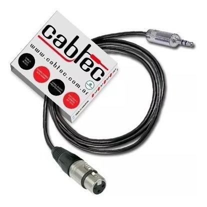 cable miniplug stereo a xlr canon hembra neutrik 3m cabtec