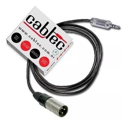 cable miniplug stereo xlr canon macho neutrik rean 3m cabtec