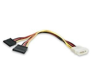 cable molex a 2 sata power 10cm adaptador disco rigido