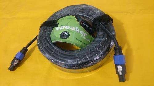 cable neutrik speakon  american dj 30 mts 4 pines caja pasiv