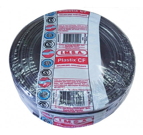 cable normalizado 1,5mm2 negro cf 1.5 neg