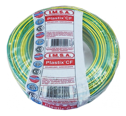 cable normalizado 1,5mm2 verde/amarillo cf 1.5 v-a