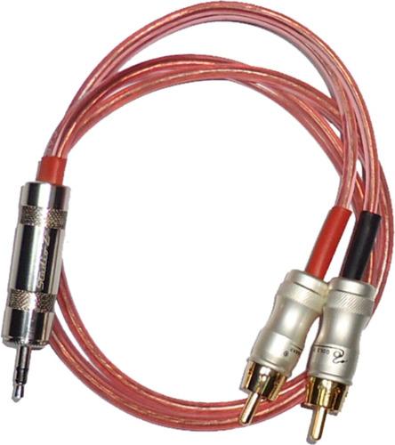 cable o.f.c. mini plug  estéreo a dos rca studio z 10 mts