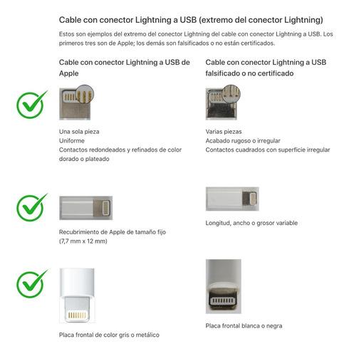 cable original apple usb lightning para iphone 5/6/7/8/x/11