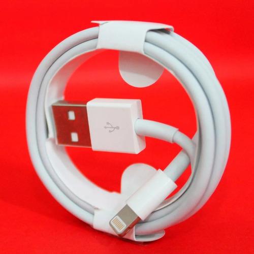 cable original cargador iphone 5 6 7 8 x lightning 1 metro