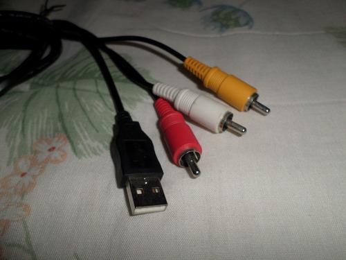 cable original usb/audio/video para cámaras sony cybershot