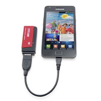 cable otg micro usb macho usb hembra para tablet