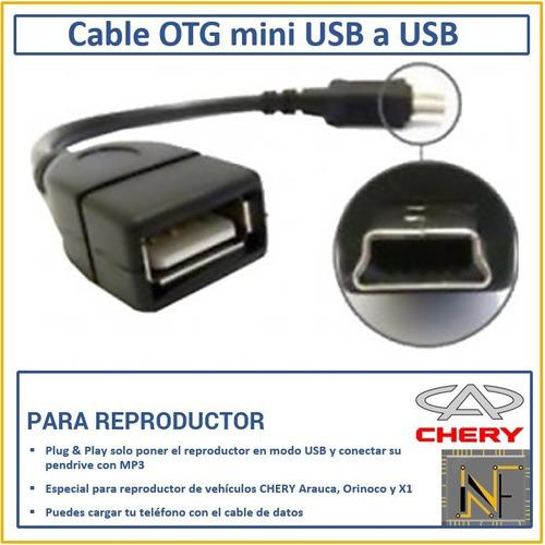 cable otg usb mini macho a usb hembra x1 arauca orinoco