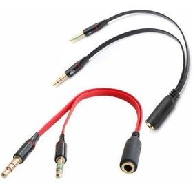 Cable Para Audífonos Microfono 2 En 1 Samsung Pc Laptop
