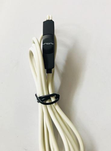 cable para audífonos sol republic - blanco -  cleartalk