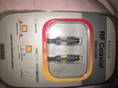 cable para audio & video rf coaxial de 1.8m