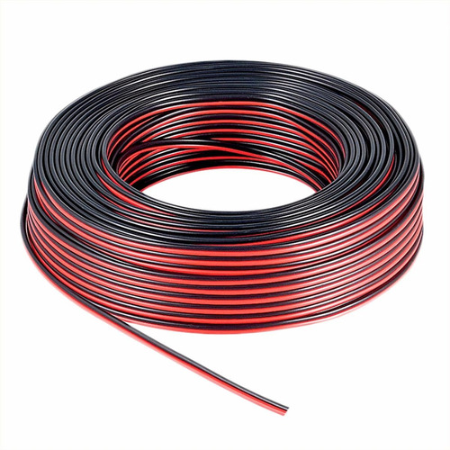 cable para bafle 2 x  1.5 mm rojo y negro rollo 100 mts esdj