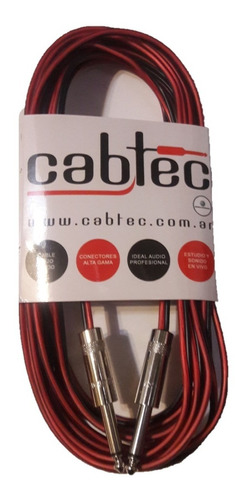 cable para bafle parlante plug plug ts 3 metros cabtec
