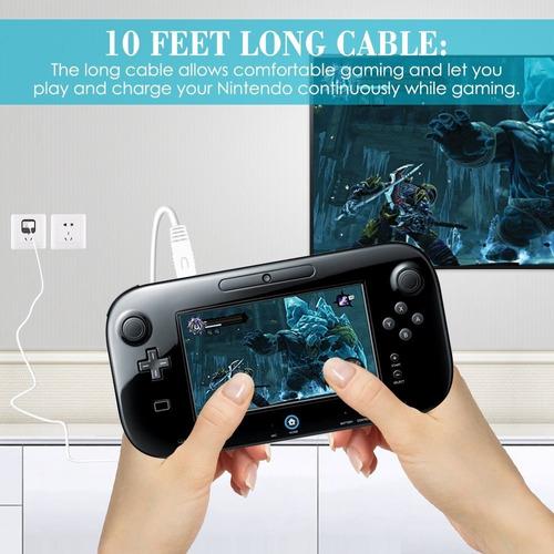 cable para cargar game pad wii u