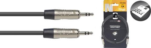 cable para celular o similar 1m mini plug-plug stagg nac1mps