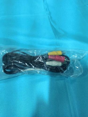 cable para decodificador directv l14, 10 pines x tres rca