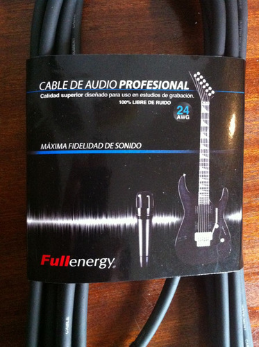 cable para guitarra plug 90º plug audio profesional 6 metros