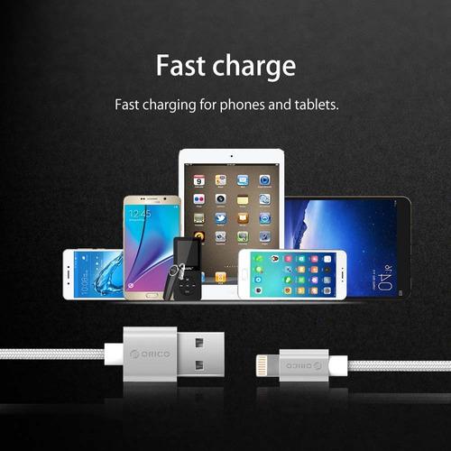 cable para iphone 5, 5c, 5s, 6, 6 plus,7, 8 y x carga rapida