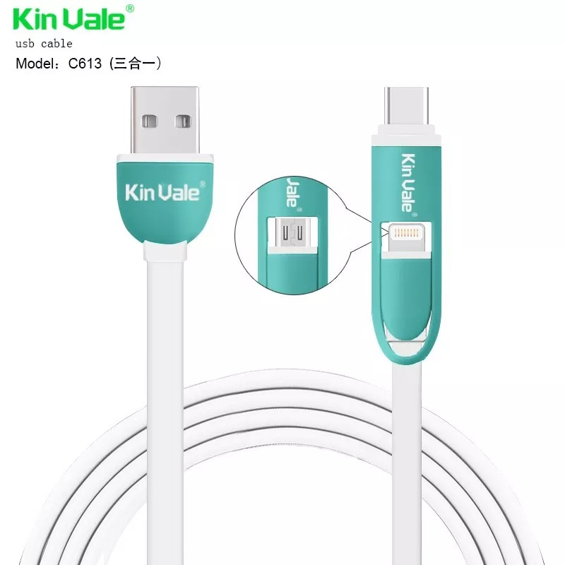 075fd1f50e8 Cable Para Iphone + Tipo C + Micro Usb 3 En 1 - $ 500,00 en Mercado ...