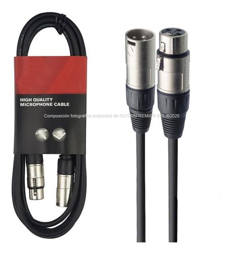 cable para micrófono canon canon xlr dmx 6 metros reforzado