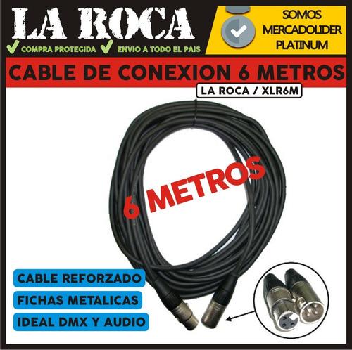 cable para microfono xlr canon canon 6 metros la roca