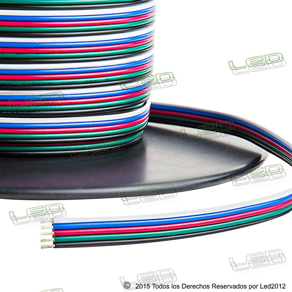 Cable para tira led rgb 4 cables por metro 50 00 en for Cable para internet precio por metro