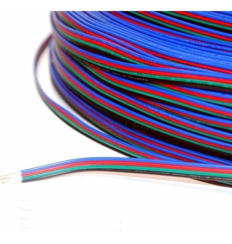 cable para tira led rgb 4 cables - precio por metro