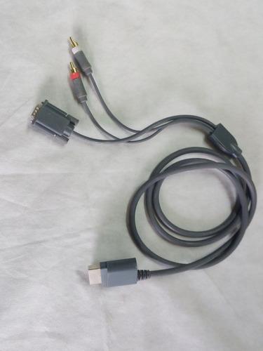 cable para  xbox 360 vga gris con audio estéreo