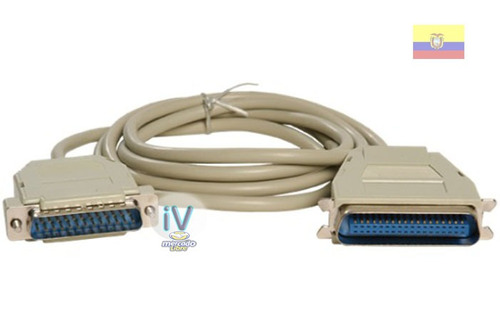 cable paralelo db25 macho a centronic 1.8 metros impresora