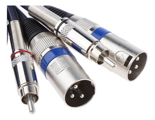 cable parche macho xlr dual a macho rca dual, cable de