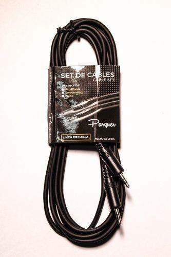 cable parquer mini plug 3,5mm a mini plug 3,5 mm 6 mts cuota