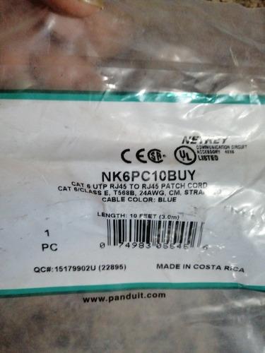 cable patch cord cat 6 color azul en 3.0mt x pieza